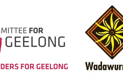 Leaders for Geelong participants recognise 'WADAWURRUNG COUNTRY' on Djilang's Barrabool Hills